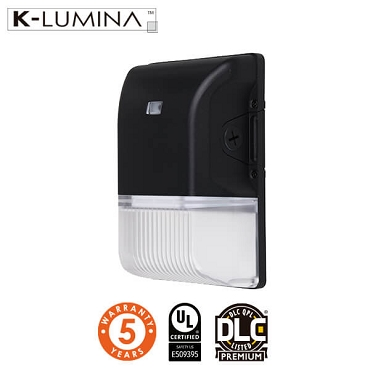 20W LED Mini Wall Pack Light – Photocell Included - UL&DLC - 5 Year Warranty